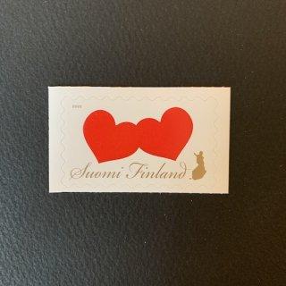 フィンランドの切手・バレンタイン・2020(セルフ糊)