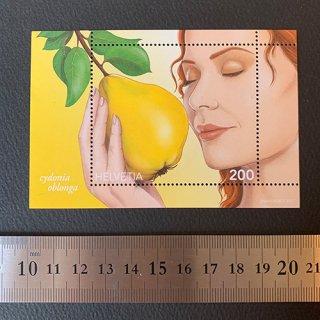 スイスの切手・マルメロの香り・小型シート・2017