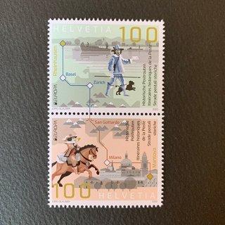 スイスの切手・ヨーロッパ・昔の郵便ルート・2020(2)