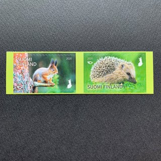 フィンランドの切手・庭の訪問者・2020(2)セルフ糊