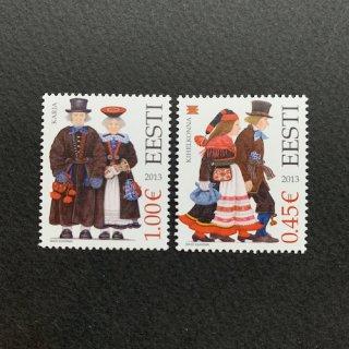 エストニアの切手・民族衣装・2013(2)