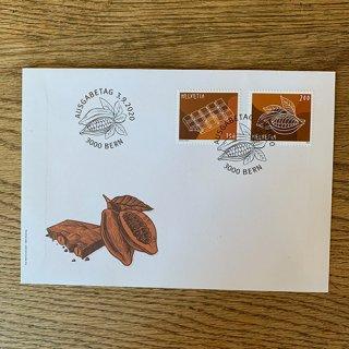 スイスの切手・チョコレート・FDC・2020