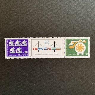 ブルガリアの切手・スカンジナビア諸国との協力(タブ付き)