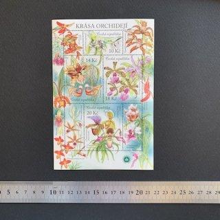チェコの切手・蘭・小型シート・2012