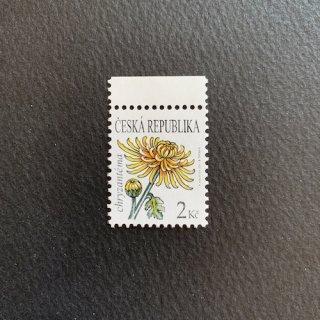 チェコの切手・菊(キク)の花・2011