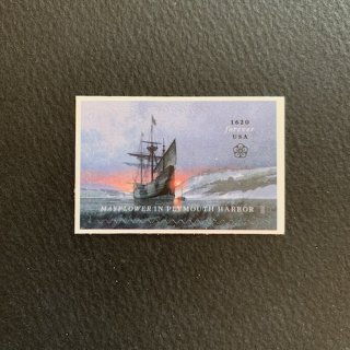 USAの切手・メイフラワー号プリマス上陸400年・2020