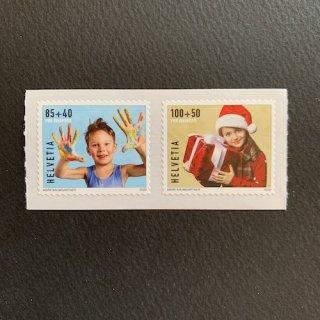 スイスの切手・冬季慈善・2020(2)セルフ糊