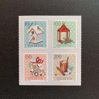 スイスの切手・クリスマス・2020(4)セルフ糊
