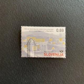 スロベニアの切手・マリボルの交流送電100年・2020