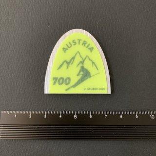 オーストリアの切手・スキー板の先端・2020(セルフ糊)