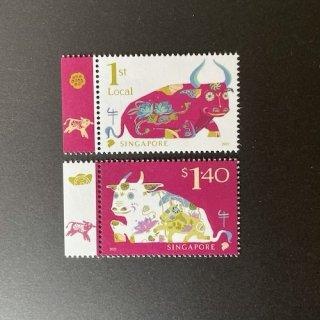 シンガポールの切手・年賀丑年・2021(2)