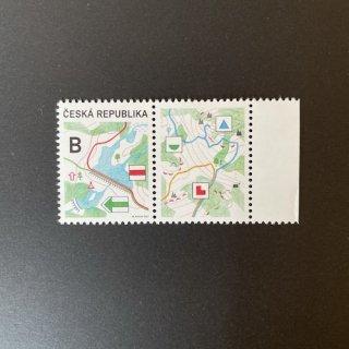 チェコの切手・観光タブ付き・2021