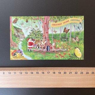 クリスマス島の切手・クリスマス小型シート・2020