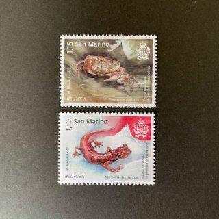サンマリノの切手・ヨーロッパ・絶滅危惧種・2021