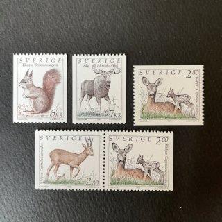 スウェーデンの切手・動物・1992(5)