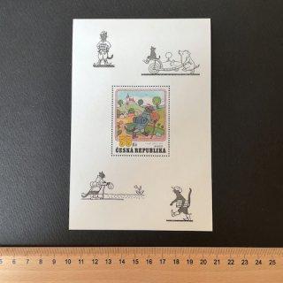 チェコの切手・黒ねこミケシュの冒険・小型シート・2001