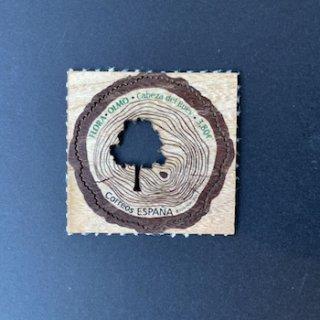 スペインの切手・木製・楡の木・2020(セルフ糊)