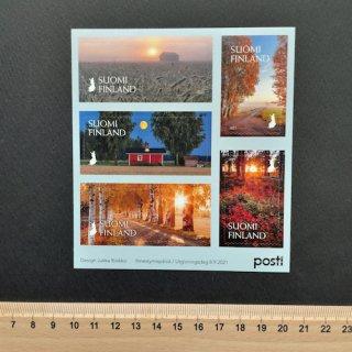 フィンランドの切手・秋のきらめき切手帳・2021(セルフのり)