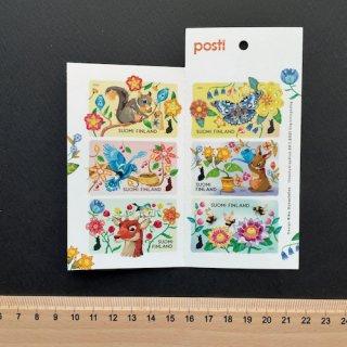 フィンランドの切手・バレンタイン切手帳・2021(セルフのり)