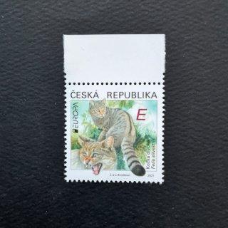チェコの切手・ヨーロッパ・ヤマネコ・2021