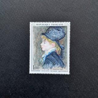 フランス・美術切手・ルノワール・マルゴの肖像・1968