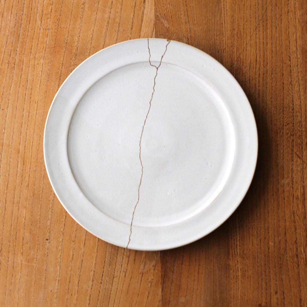 Rim plate large /white