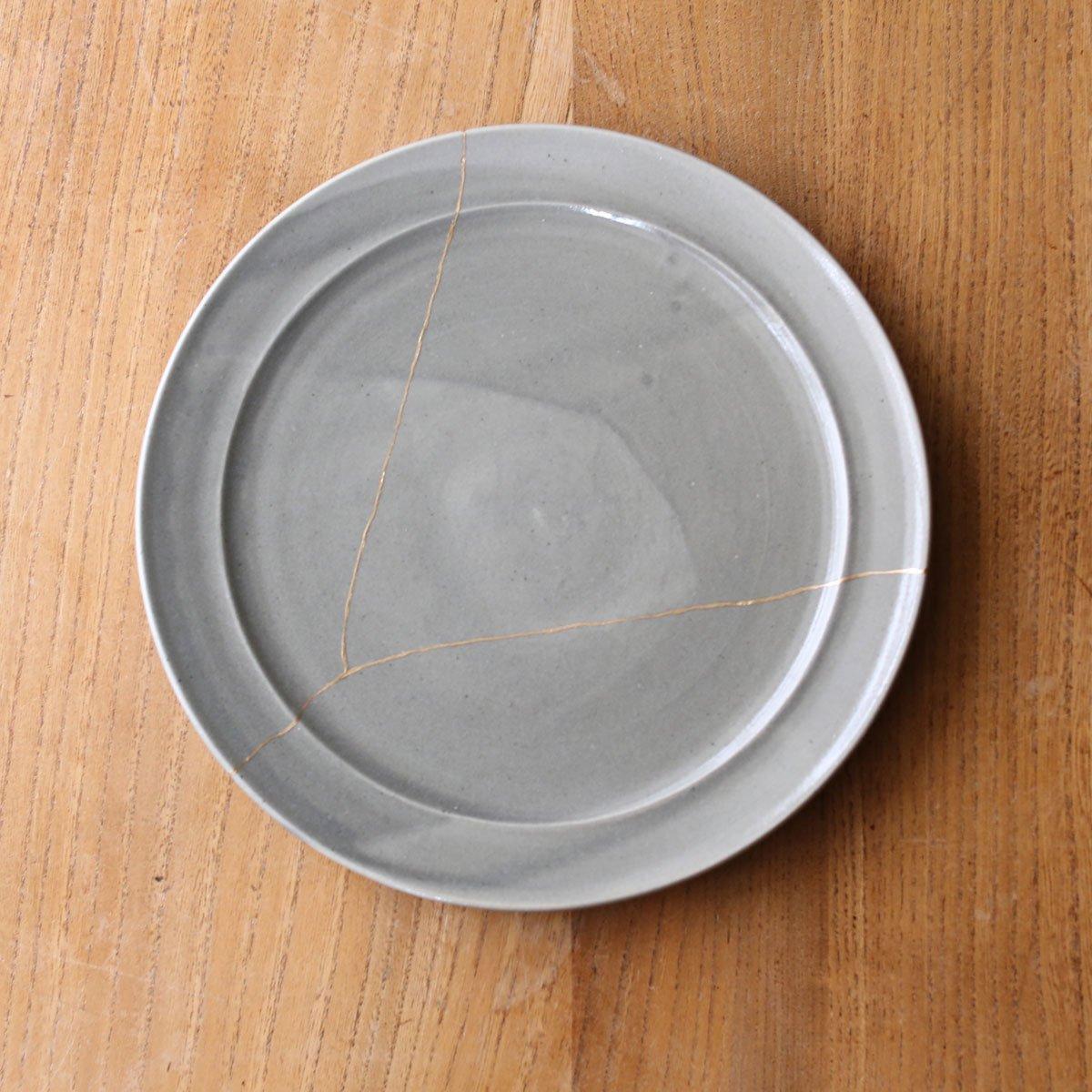 Rim plate large /gray