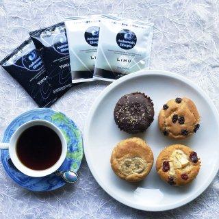 米粉マフィン×4 / ドリップバッグコーヒー×4 (お家でマフィン×コーヒーセット)