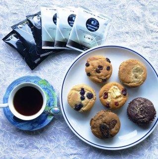 米粉マフィン×6 / ドリップバッグコーヒー×6 (お家でマフィン×コーヒーセット)
