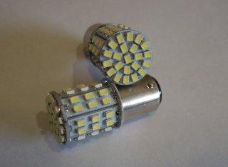 64SMD LED ダブル球 ホワイト 6000K テール・ストップランプ 高輝度 省電力型