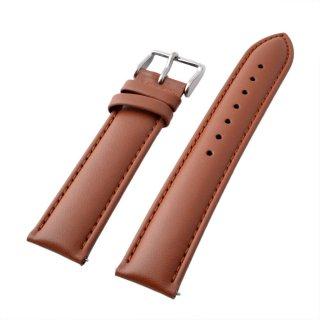 アレス ALLES wbf19a002  【工具不要で取付簡単!】 腕時計用ベルト カーフ ブラウン 19mm レバーピン 時計バンド 革バンド ベルトのみ