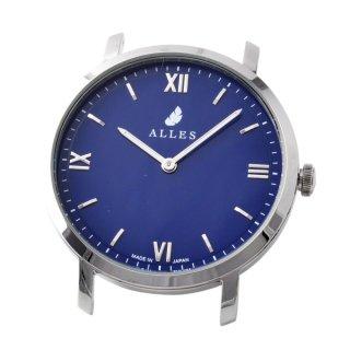アレス ALLES wwas391h01d06  【日本製 クォーツ】 腕時計用ヘッド ローマインデックス シルバー×ネイビー 39mm ヘッドのみ ベルト別売り