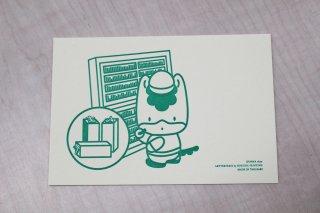 ぐんまちゃん活版ポストカード(活字棚)