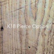 K18 ピアスポスト&キャッチ(オプション)