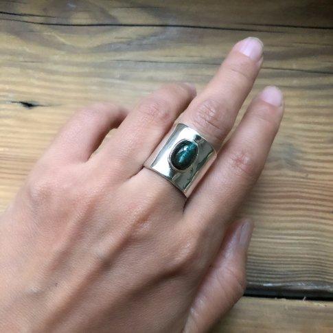 Tourmaline Catseye Flat Ring