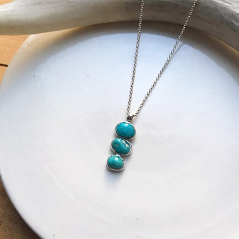 Cascade Necklace White Water Turquoise