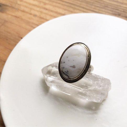Little Earth Ring Gold Rim /White Buffalo 1