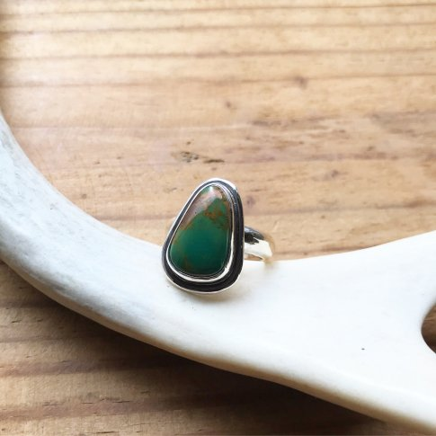 Little Earth Ring Original /Royston Turquoise 4