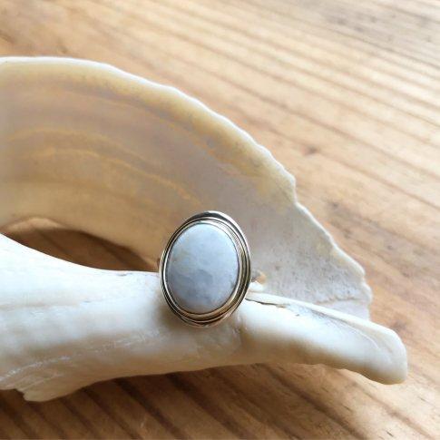 Little Earth Ring Gold Rim /White Buffalo 2