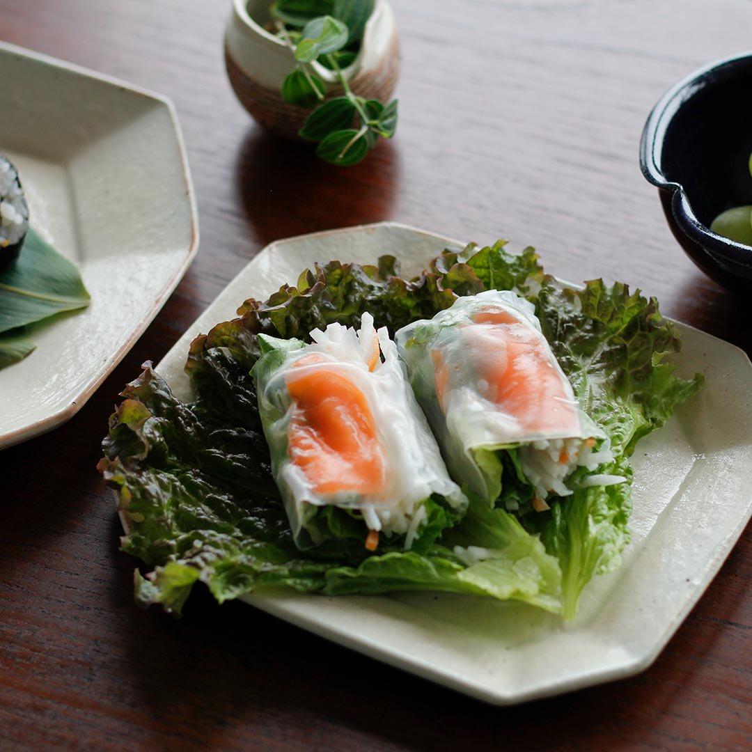 八角ケーキ皿 / 古谷製陶所