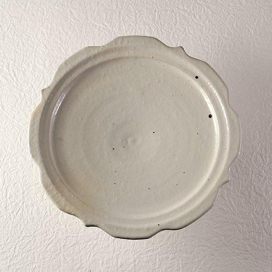 彫刻コンポート皿18cm 鉄散  / 古谷製陶所