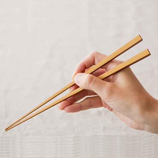 竹箸 拭き漆 白竹