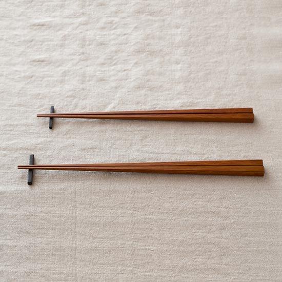 竹箸 拭き漆  燻し煤竹