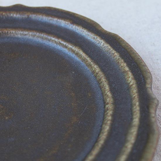 彫刻皿6寸 / 古谷製陶所