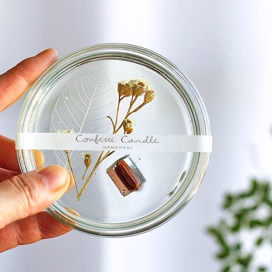 キャンドル 葉脈標本 / confetti candle