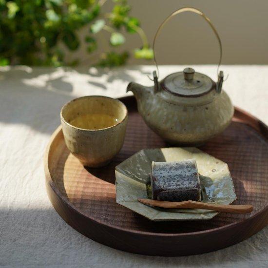 丸盆 ブラックウォールナット 28cm / 堀宏治