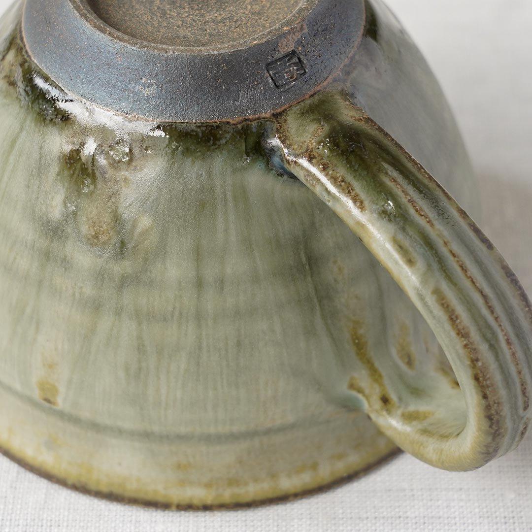 マグカップ 彩色灰釉 / 市野耕