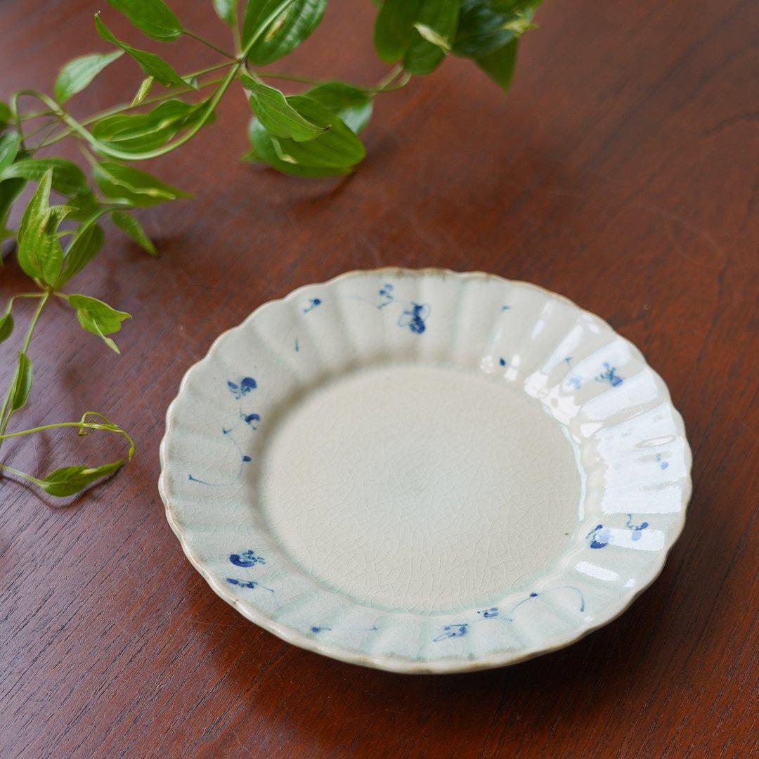 5寸フラット輪花皿 / 石井桃子
