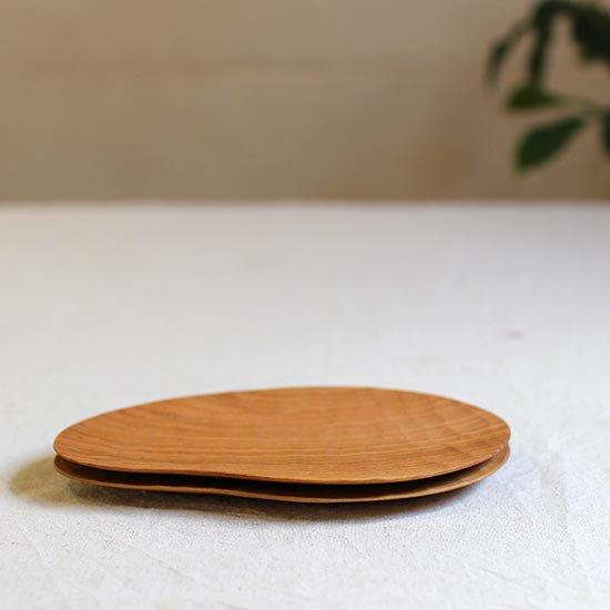 手彫り変形皿 M / 尾池豪