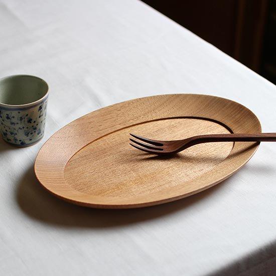 オーバル皿 くるみ / 高塚和則